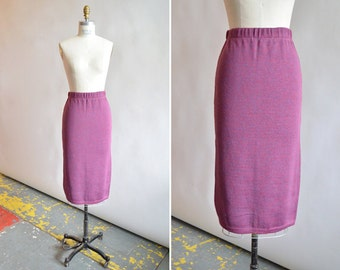 Vintage 1980s KNIT pencil skirt