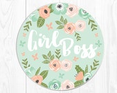 Quote Mouse Pad Mousepad Gift for Coworker Gift for Boss Girl Boss Gift for Her Girlfriend Cute Mouse Pad Cute Floral Mousepad Office Gifts