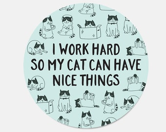 Mouse Pad Cat Mousepad Birthday Gift for Sister Gift Office Supplies Office Desk Accessories Desk Decor Cat Lover Gift New Job Gift