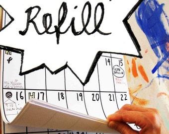 calendar REFILL pack 18 months