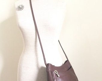 Fossil Purse - Fossil Leather Crossbody Bag - Vintage Shoulder Bag - Pebbled Leather