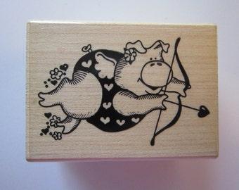 rubber stamp - CUPIG - cupid pig - Rubberstampede