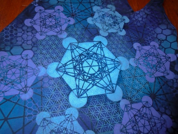 S Metatron S Cube Flower Of Life Mandala Racer Back Tank