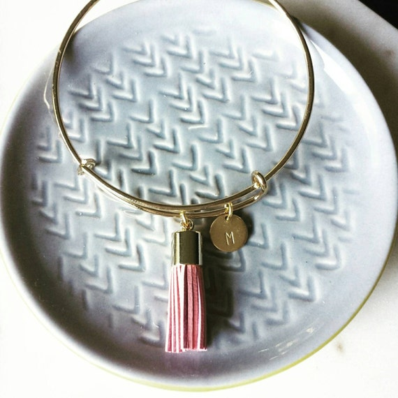Personalized Tassel Bangle
