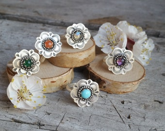 Small Wildflower Ring Made to Order