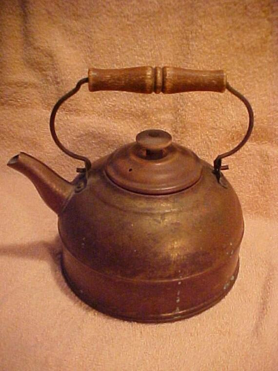 Vintage Revere Ware 1801 Copper Plated Teapot Tea Kettle