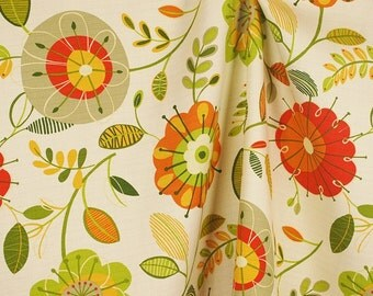 Valkaria Apricot Modern Floral Swavelle Fabric
