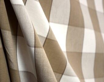 D2929 Monroe Linen Check Plaid Fabric