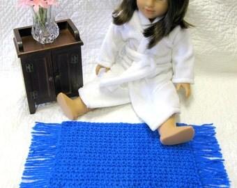 American Girl Crocheted Doll Rug Doll Throw Rug Sasha Doll Gotz Doll Madame Alexander Kidz n Cats Magic AtticYarn Doll Rug Royal Blue