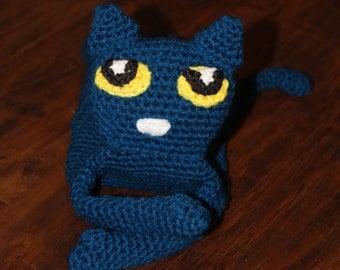 Crochet Pete the Cat Rag Doll