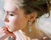 Swarovski Bridal Chandelier Earrings- Crystal Drop Earrings- Bridal Earrings- Crystal Earrings- Chandelier Bridal Earrings