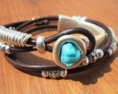 turquoise  bracelet, turquoise jewelry, summer jewelry, beach bracelet, black Bracelet, beach jewelry, summer accessories