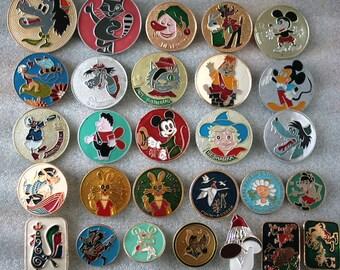 Soviet Vintage Badge Badges Pins Set of 28Kids Children Cartoon Nu Pogodi Characters from Russia USSR Soviet Union
