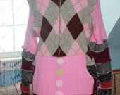 Hand Crafted Size XXL Sweater Hoodie made from Upcycled recycled repurposed sweaters