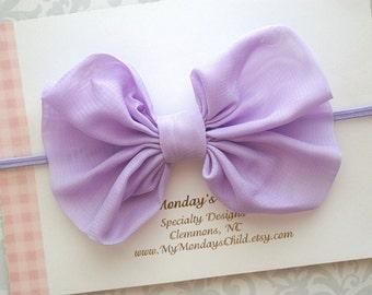 Lavender Baby Bow Headband, Lavender Bow Headband, Baby Bow Headband, Baby Bows, Baby Headband, Toddler Headband, Toddler Bow,