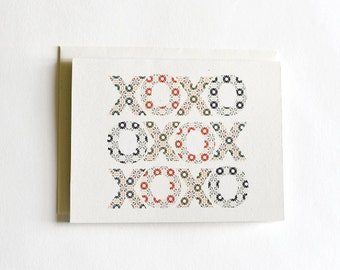 Winter Hugs + Kisses Holiday Cards : Boxed Set of 8 Cards + Envelopes for Christmas Cards