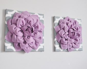 Wall Decor // Purple Decor // 3D Wall Hanging // Accent Piece // Wall Pictures // Gallery Wall Accent Piece / Floral Hanging