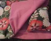 American Girl Sleeping Bag, pink and brown doll bedding for 18 inch dolls