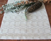 """Silver Gray Holiday Table Runner, Rustic Farm Cottage Chic Country Cabin Seaside Beach House Home Decor, Handwoven Cotton 48.5""""L x 12.25""""W"""
