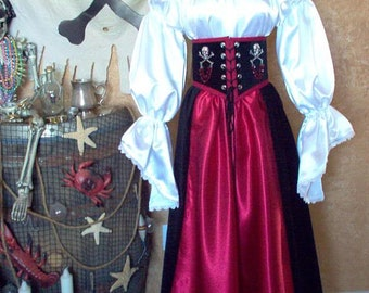Pirate Renaissance Cincher Costume That Can Be Made Any Size