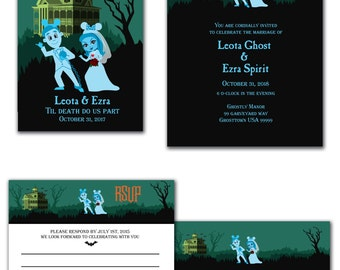 Haunted Mansion DLR Wedding Invitation, Save The Date, or RSVP