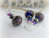 Funny Valentine Swarovski and Czech Jewelry with Sterling Silver and Unique Czech Glass Beads Valentines Day Gift for Wife for Girlfriend