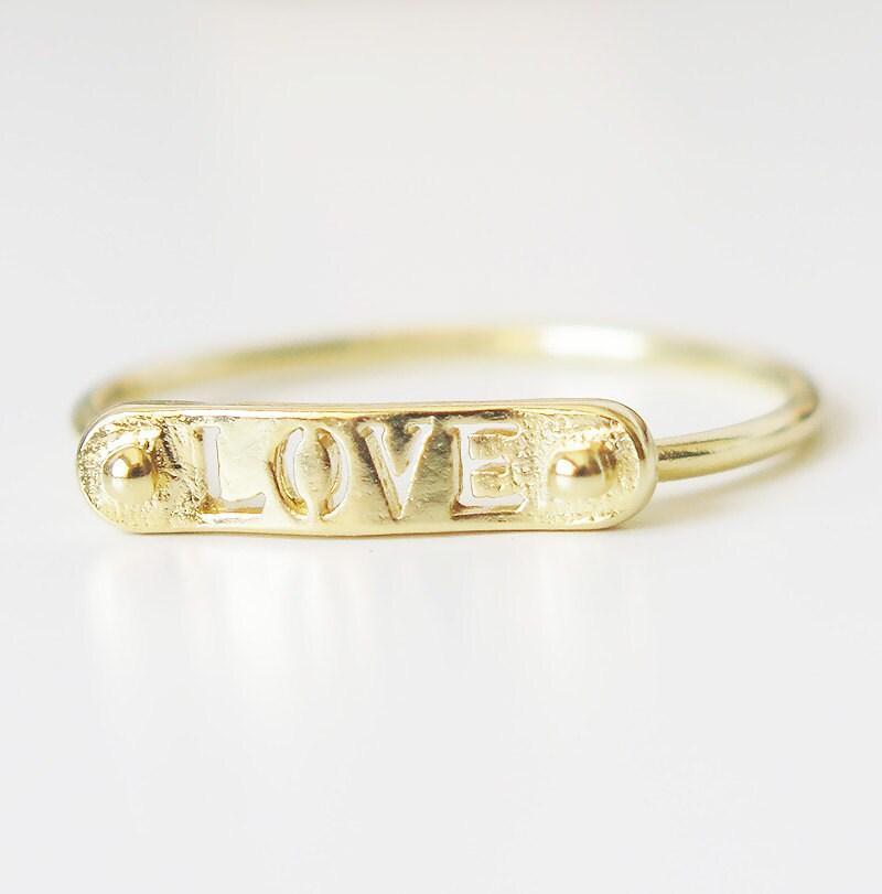 gold ring band ring bar ring thin gold ring geometric by