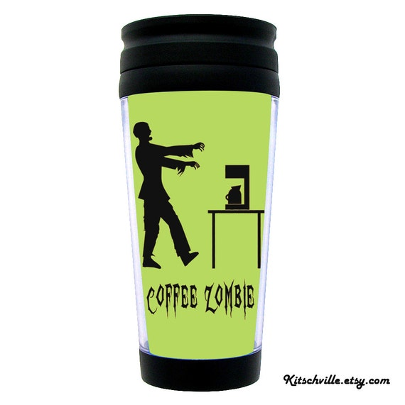 """Funny """"COFFEE ZOMBIE"""" Thermal Insulated Travel Mug for Work & Office"""