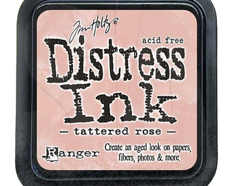 Tim Holtz Distress Ink Pad Full Size TATTERED ROSE Pink, Peach