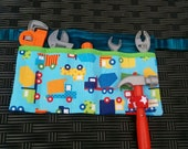 Tool Pouch Construction Truck Tool Pouch Kids Tool Belt Boys Tool Pouch Childs Tool Pouch Tool Apron Tools Hammer Loop  Handmade
