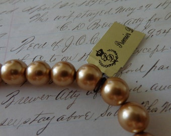 28 inch golden faux pearl necklace - beautiful!!
