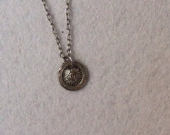 Vintage Silver Sunny Face Necklace