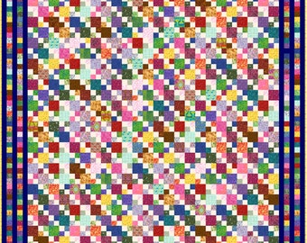 """HIGELTY PIGELTY - 117""""x 117"""" Large King or 101""""x 101"""" King or 85""""x 85"""" Queen - Quilt-Addicts Precut Quilt Kit or Finished Quilt"""