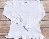 Short Sleeve and Long Sleeve Girly Ruffle Tee