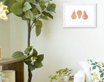 Trio Pear In Copper Print