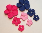 Reserved for Katcro4259 royal icing sugar flowers LOT of 500 cupcake topper