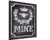Chalkboard Art Poster- Chalkboard Sign - Be Mine chalkboard- Valentine poster