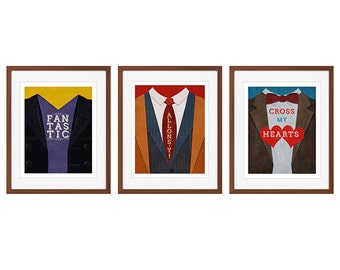 Set of 3 Doctor who prints - Fantastic, Allons-y, and Cross my Hearts (9th, 10th, and 11th Doctors)