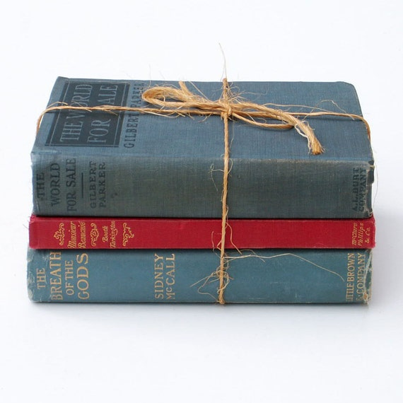 Decorative books old book stack instant library mantel display - Decorative books for display ...