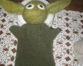 Yoda inspired hand  puppet star wars