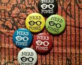 Nerd Punks: 1 Inch Pinback Button