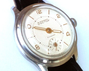 Vintage wrist watch Vostok  ladies watch womens watch, small watch