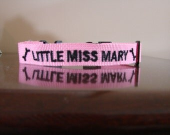 Personalized Dog Collar Embroidered with Name and Phone Number Custom Made dog Collar