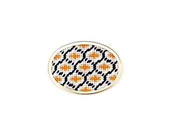 DIY Needlepoint Jewelry Kits: Ogee Pin