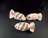 Crochet Mouse and Ruffled balls-Cat Toys Set of 3