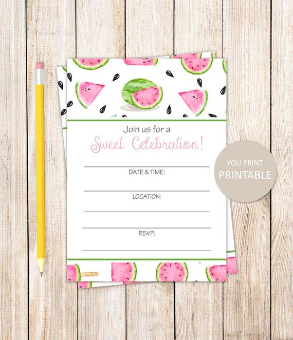 printable watermelon invitation fill in the blank invitation