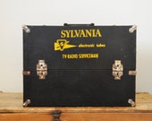 Vintage Salesman Black Travel Case Sylvania TV Radio Serviceman Repairman Box