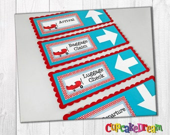 Airplane Birthday Signs, Plane Decoration, Boy Birthday