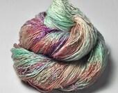 Trampled Flowerbed OOAK - Tussah Silk Lace Yarn