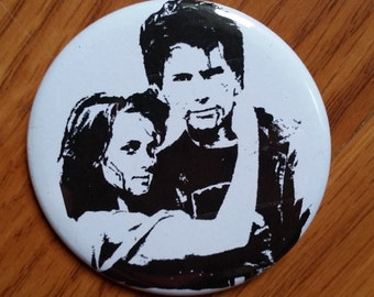 Heathers movie pinback button JD and Veronica 80s 1980s